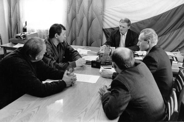 Журналист Сергей Акулич о себе - совещание -1994