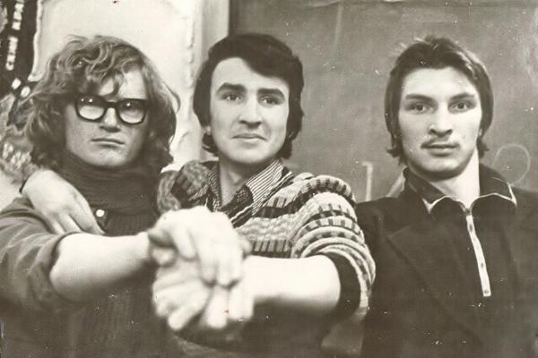 ДВГУ, 1 курс, Сергей Акулич, Владимир Косяков, Олег Кульгин, 1977 г.