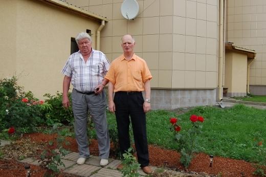 Космонавт Валерий Рюмин и журналист Сергей Акулич