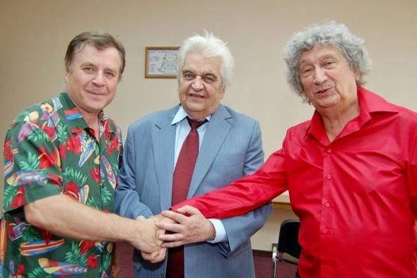 Григорий Гладков, Евгений Крылатов, Юрий Энтин - три мушкетера детской песни. Фото Сергея Акули